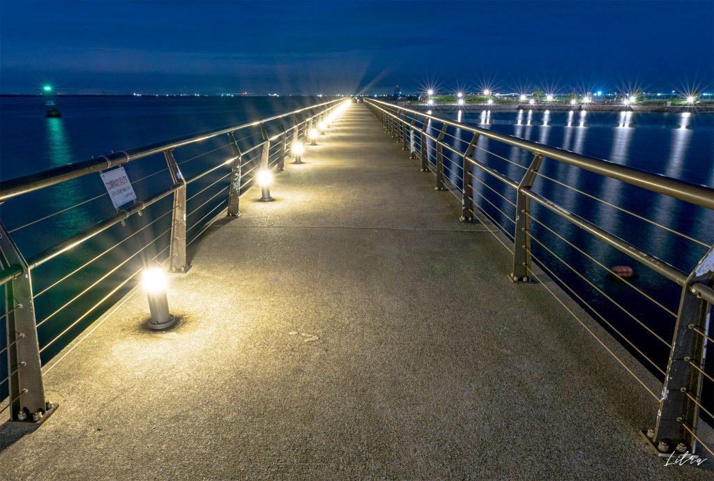 東扇島東公園の桟橋