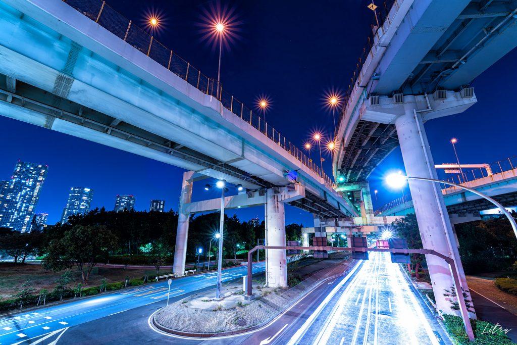 辰巳ジャンクションの夜景