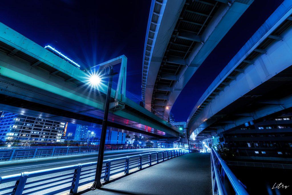 芝浦ジャンクションの夜景