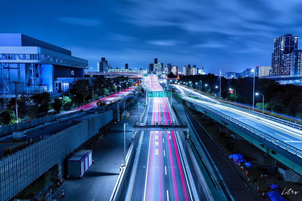 大井ジャンクションの夜景