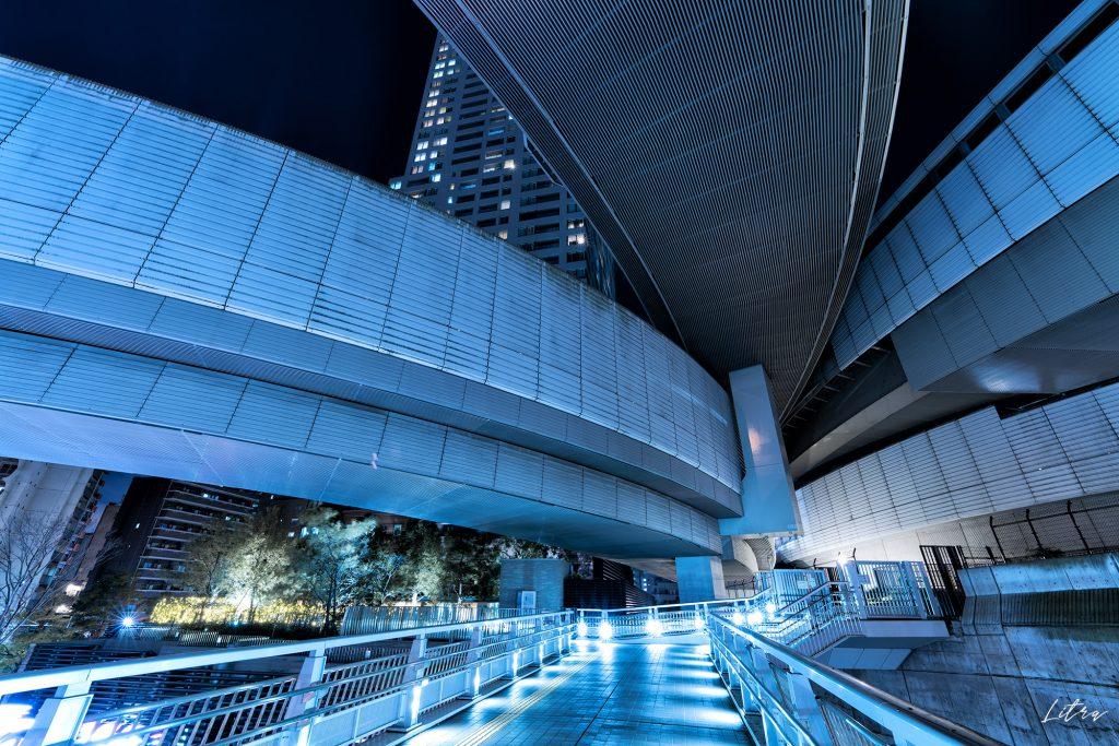 大橋ジャンクションの夜景