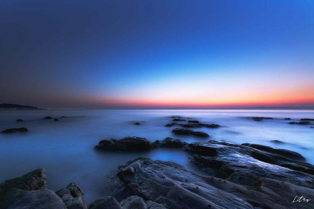 燈明堂海岸のブルーアワー