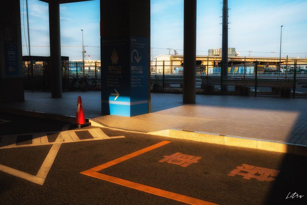 ターミナルエントランス前の駐車スペース